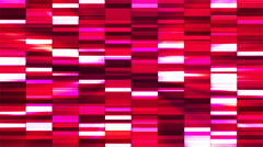 Twinkling Horizontal Small Squared Hi-Tech Bars, Red, Abstract, Loopable, 4K Stock Footage