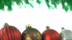 Green and White Christmas Loop Stock Footage