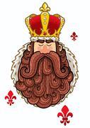 King Portrait Stock Illustration