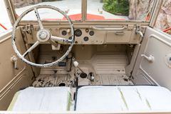 Interior of Old Military Vehicle Kuvituskuvat