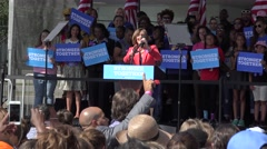 Florida Congresswoman Kathy Castor Speaks At Hillary Clinton Rally Stock Footage