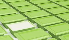 Green plastic containers Stock Illustration