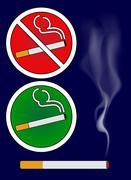 Cigarette burns and smoking area sign Illustration Stock Illustration