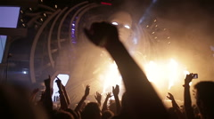 Party people at a concert. Artist On Stage Stock Footage