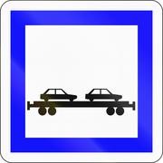 Road sign used in France - Rolling highway Stock Illustration