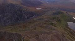 Crib Goch in Snowdonia. Stock Footage