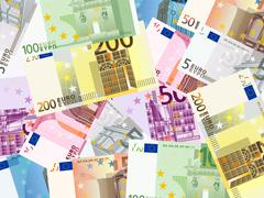 Euro banknotes background Stock Illustration