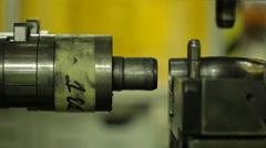 Metalworking CNC milling machine. Cutting metal modern processing technology Stock Footage