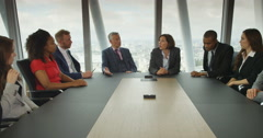 4k, Group of business people having a disagreement during a board room meeting.  Stock Footage