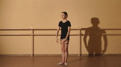 The dancer performs an Arabesque Stock Footage