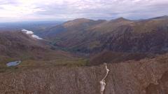 Climbing on Crib Goch, Snowdonia. Stock Footage