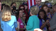 Hillary Clinton Greeting Supports At Rally In Tampa Florida 01 Stock Footage