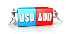 USD AUD Currency Pair Stock Illustration