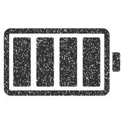 Battery Grainy Texture Icon Stock Illustration
