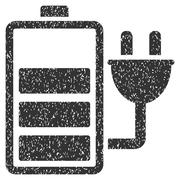 Charge Battery Grainy Texture Icon Stock Illustration