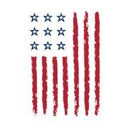 American flag vertical symbol celebration Independence Day Stock Illustration