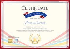 Certificate template for achievement, appreciation or participation in colorf Stock Illustration