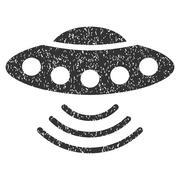 Ufo Grainy Texture Icon Stock Illustration