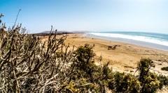 Ocean Panorama Timelapse 4k Stock Footage
