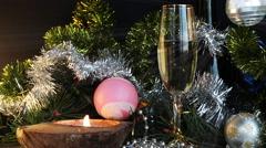 Christmas background, New year celebration Stock Footage