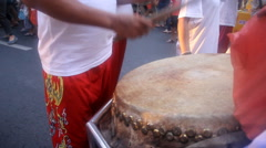 Chinese drum performance Stock Footage