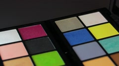 Close up shot of two make up palettes standing next to each other Stock Footage
