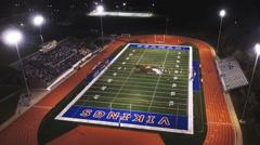Aerial High School Football Game Stock Footage