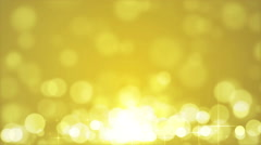 Loopable Abstract Yellow Bokeh With Stars Stock Footage