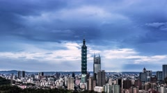 Timelapse of Nanjing City Zifeng Stock Footage