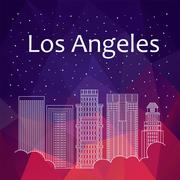 Los Angeles for banner, poster, illustration, game, background Piirros