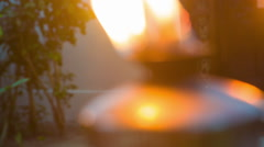 Fire torch close up Stock Footage