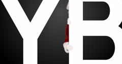 Santa peeping on cyber monday logo Stock Footage