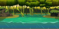 Underwater background Landscape . For web mobile phone,print, game design Stock Illustration