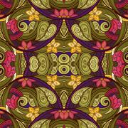 Vector Seamless Abstract Tribal Pattern Piirros