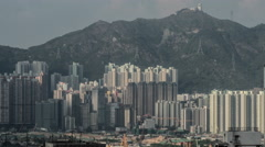 Timelapse of residential area in Hong Kong Stock Footage