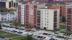 Ovelooking Views Of Settlement In Ostrava Stock Footage