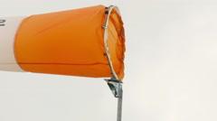 4k, orange airsock outdoors 2 Stock Footage