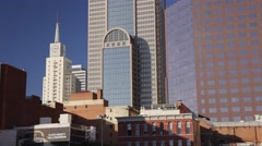 Dallas clock tower time-lapse w/ shadow movement Stock Footage