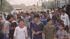 People gather on streets - Mosul Offensive - Kurdistan, Iraq Stock Footage