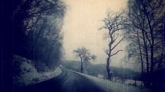 Winter road Czech Republic Stock Footage