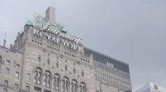 Fairmont Royal York hotel - Toronto, Ontario, Canada Stock Footage