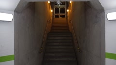 Stair hallway - Train station - Go Station - Toronto Stock Footage