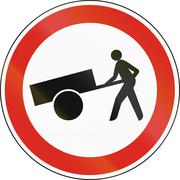 Hungarian regulatory road sign - No handcarts Stock Illustration