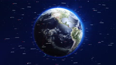 Digital world turning slowly. Technology related concept. Stock Footage
