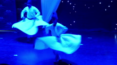 4k, dervishes dance on the stage 1 Stock Footage