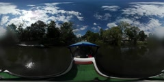 360Vr Video Animation Day Opole Leisure Boat Oder River People Are Traveling by Stock Footage
