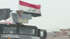 Iraqi Army Humvee - Mosul Offensive - Kurdistan, Iraq Stock Footage