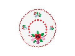 Embroidered Hungarian tablecloth Stock Photos