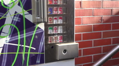 Vending machine selling cigarettes in Germany 4k Stock Footage