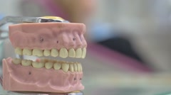 The Process of Dental Work Stock Footage